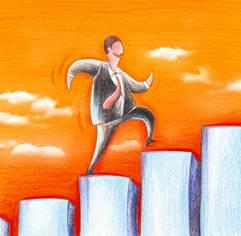Ziele erreichen Erfolgstreppe